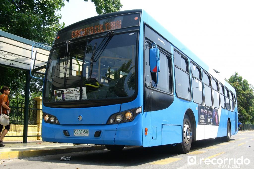 Bus Transantiago - Servicio 122 Circuito Cultural - Enero 2013