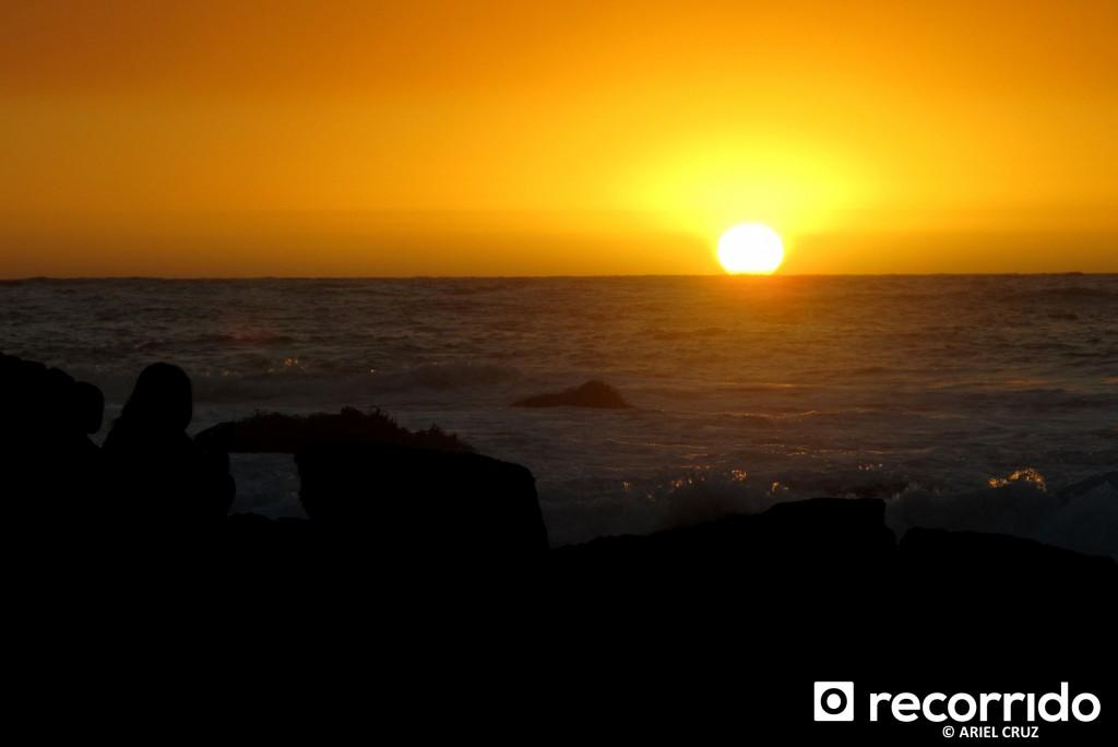 Atardecer / Puesta de sol en El Quisco - Febrero 2012