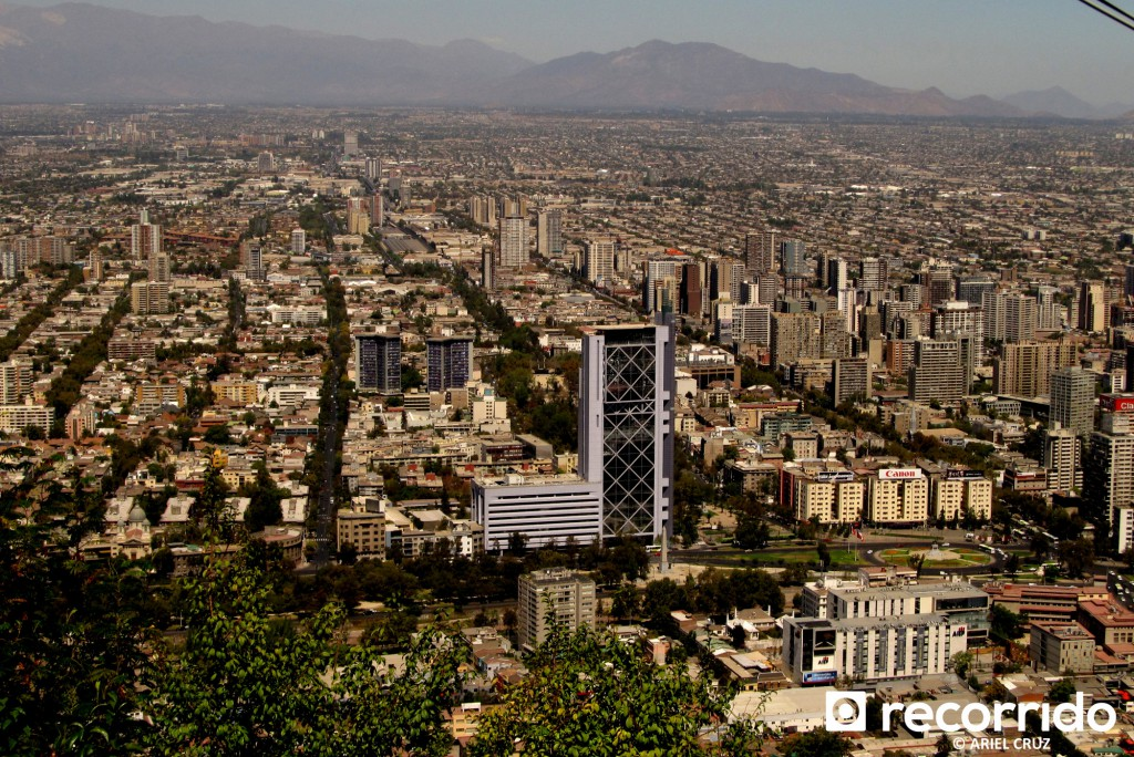 Vista de Santiago desde Cerro San Cristóbal - Marzo 2012