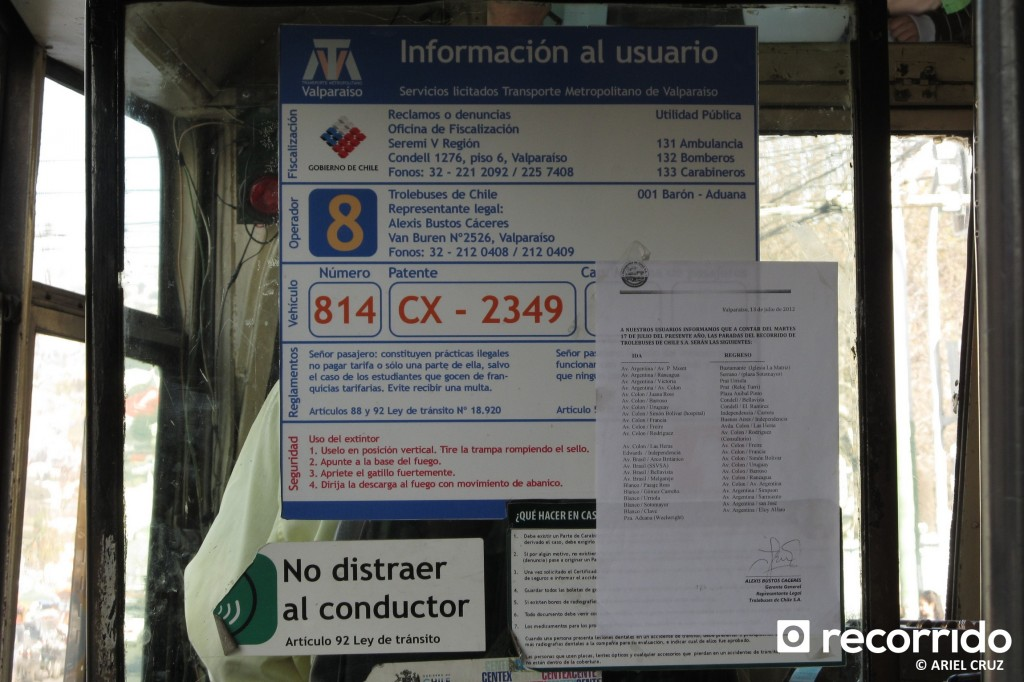 Adhesivos TMV del Trolebús Nº 814