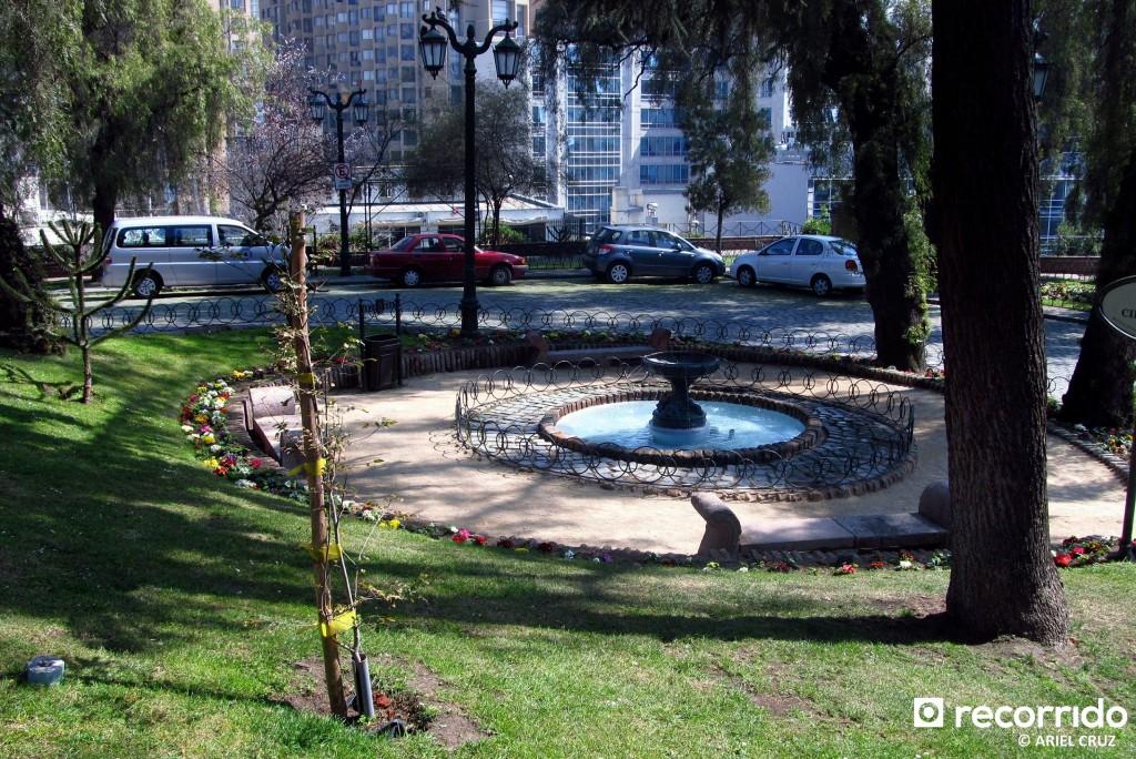 Jardín Circular en Plaza Pedro de Valdivia - Septiembre 2012