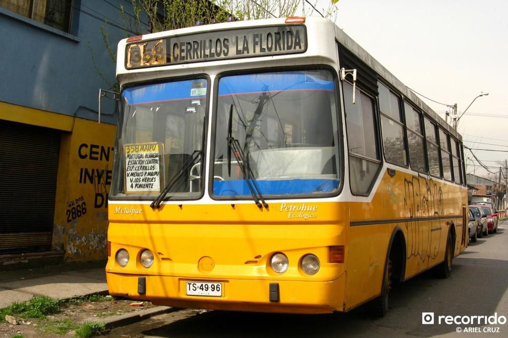 Micro Amarilla sobrevive al Transantiago (Metalpar Petrohué, año 2000) - Agosto 2009