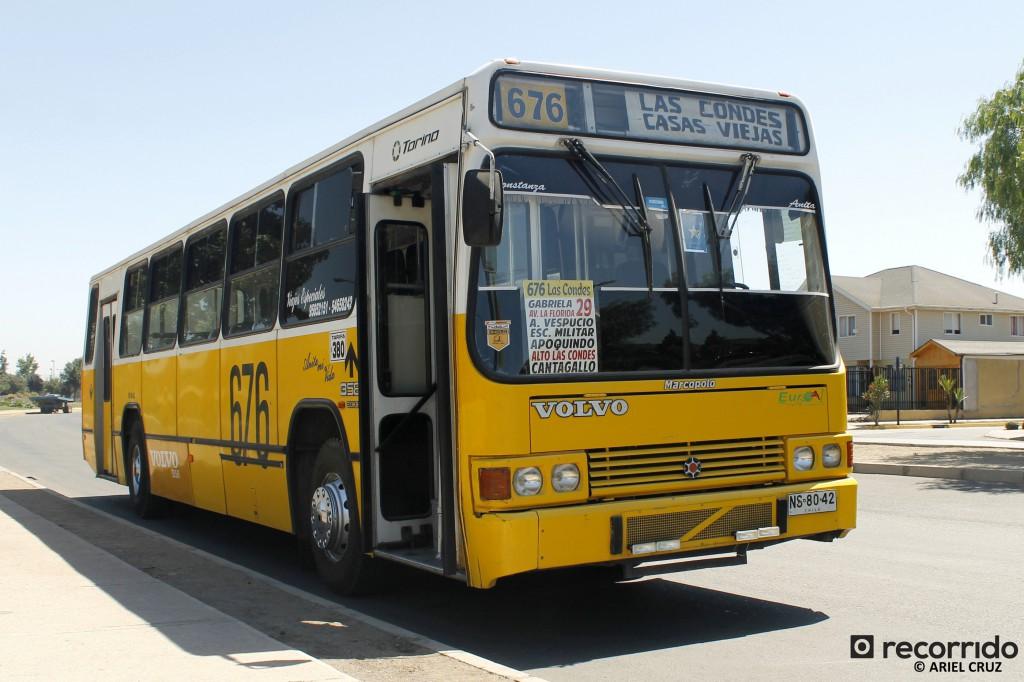 Micro Amarilla restaurada de Buses Anita (Marcopolo Torino, año 1996) - Diciembre 2014