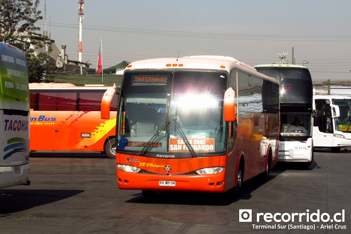 pullman el huique - bgwr34 - viaggio 1050 - terminal sur