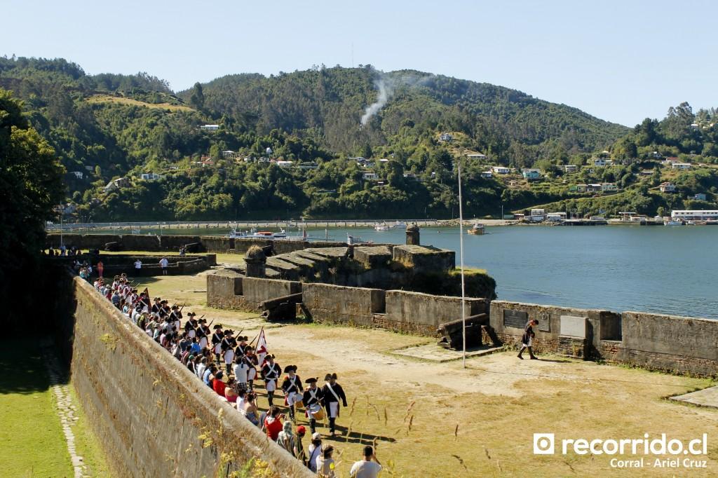 Recreación en Fuerte San Sebastián de la Cruz (Corral) - Enero 2015