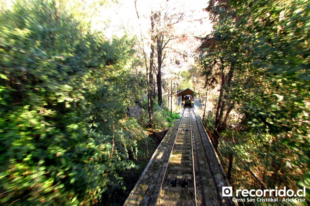 Cerro San Cristóbal Funicular Parque Metropolitano Santiago, Chile