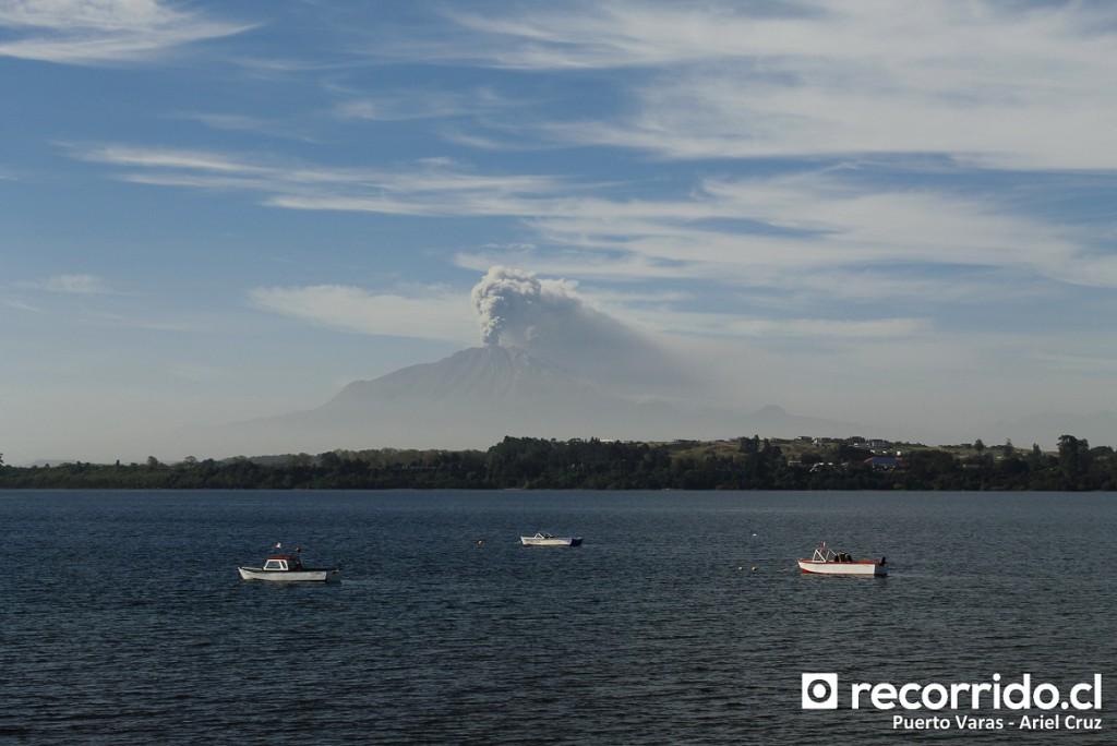 volcán calbuco - erupción - puerto varas - lago llanquihue