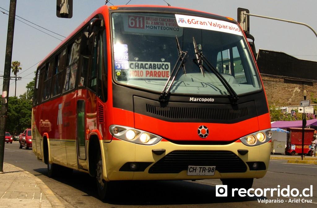 Foto de referencia de empresa Gran Valparaíso, la misma que realiza el servicio 612