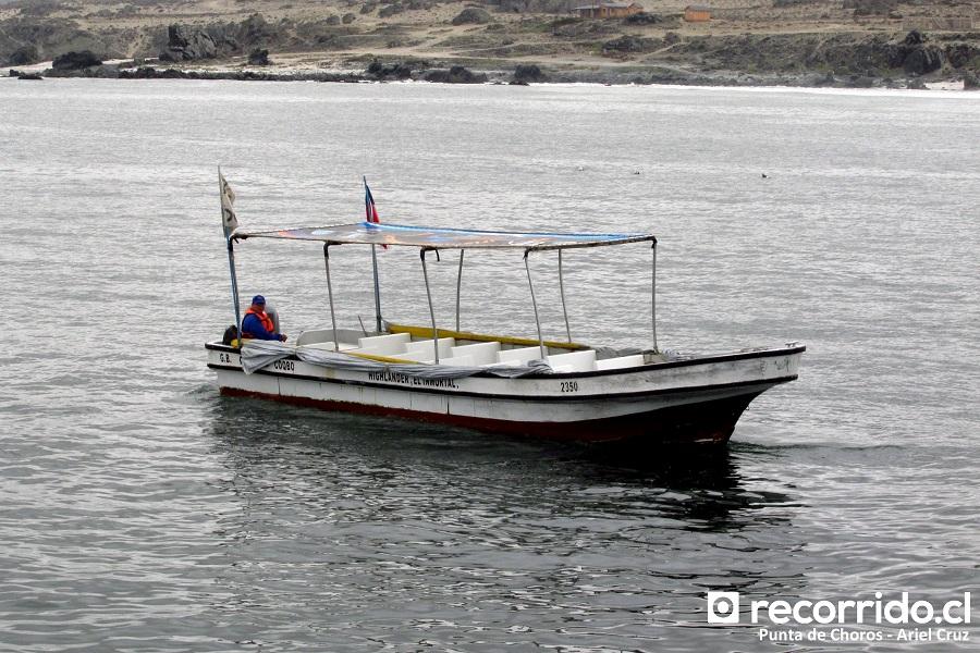 punta de choros - ecoturismo la serena - highlander el inmortal - embarcación