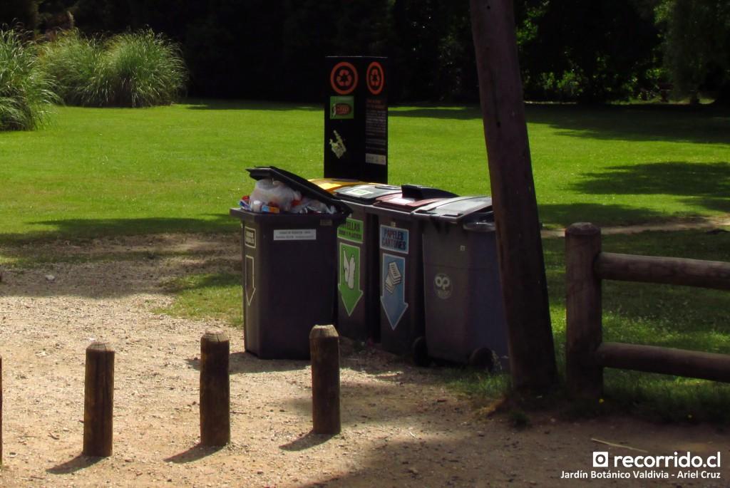 Clasificación de desechos en Jardín Botánico