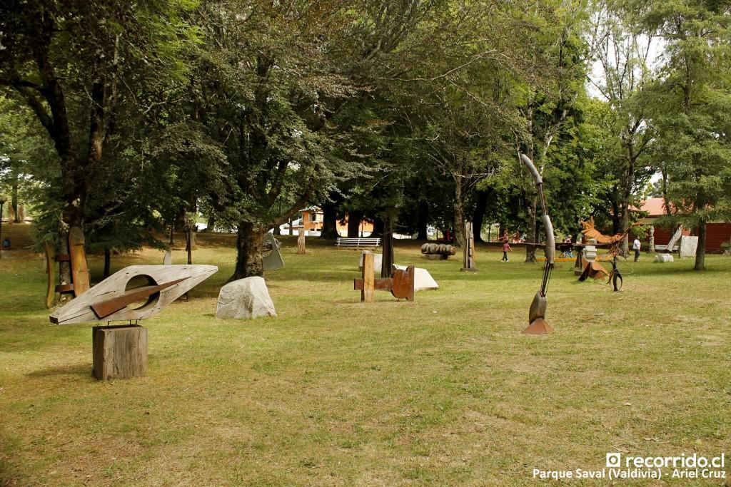 parque de las esculturas - parque saval - valdivia