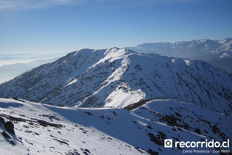 Cerro Provincia en invierno