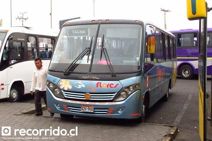 b2v960 - flores - pía - terminal internacional - arica - tacna