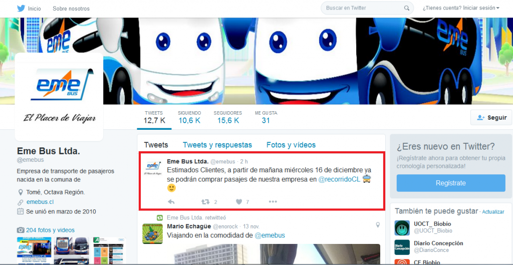 Twitter de Eme Bus