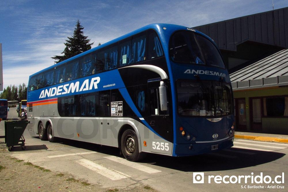 andesmar - 5255 - metalsur starbus - bariloche - puerto montt - nol260