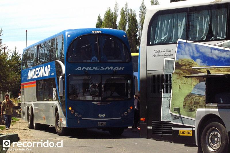 andesmar - 5255 - metalsur starbus - bariloche - terminal ómnibus - puerto montt