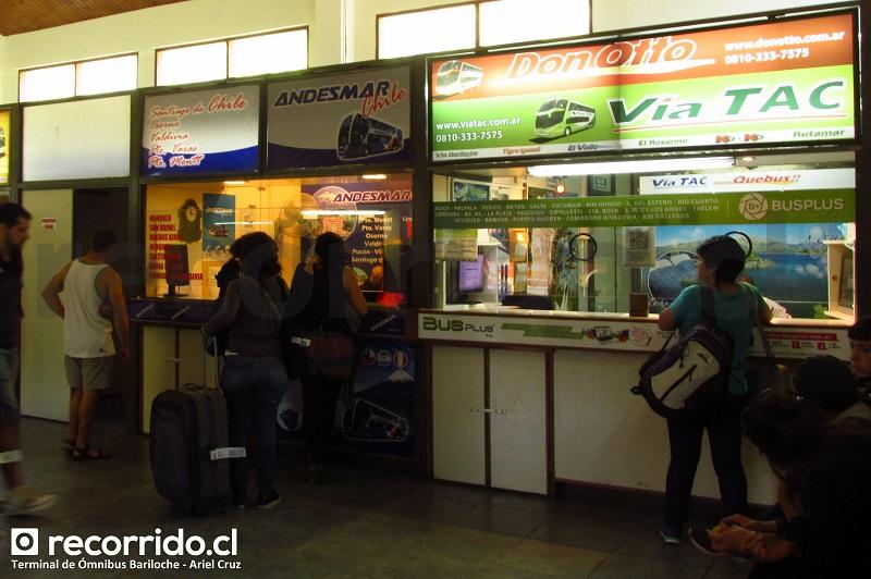 terminal ómnibus bariloche - andesmar - andesmar chile - vía bariloche - vía tac - busplus