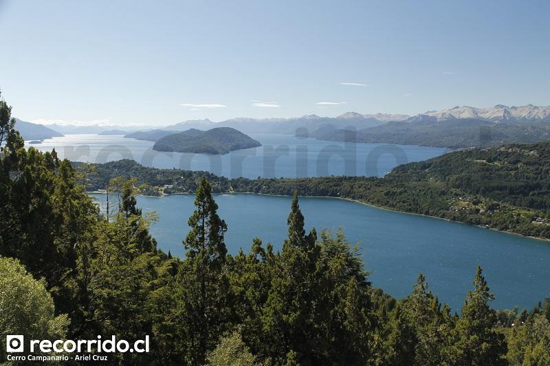 bariloche - lago nahuel huapi - brazo campanario - península san pedro - cerro campanario - isla victoria