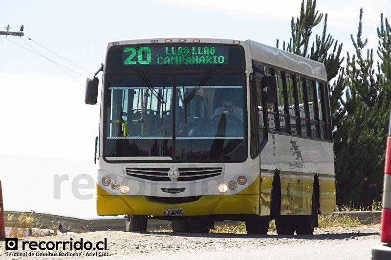 ouy512 - bariloche - micro 20 - iguazú - tronador - llao llao - campanario - terminal ómnibus