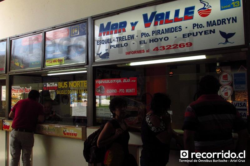 bus norte - cruz del sur - transaustral bus - mar y valle - buses - terminal ómnibus - bariloche