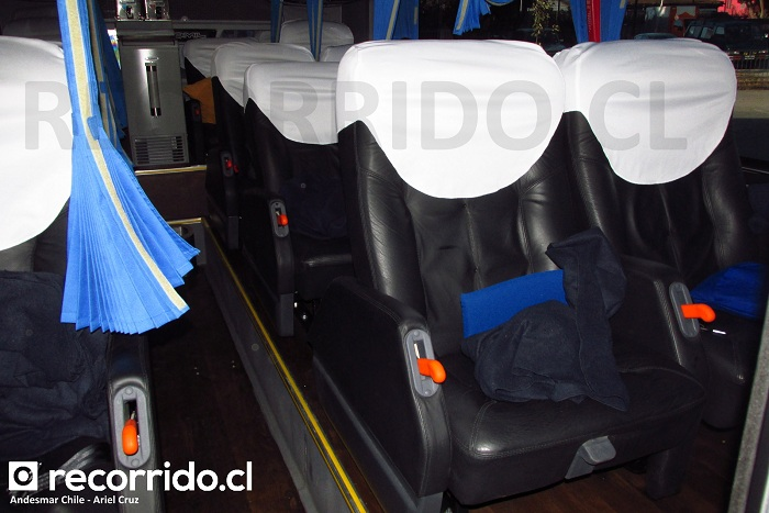 Salón Cama de Andesmar Chile para viaje Santiago - Bariloche
