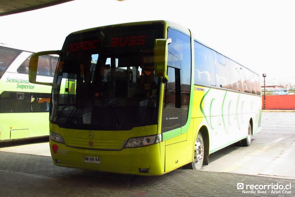 Nordic Buss Internacional en Rodoviario de Arica
