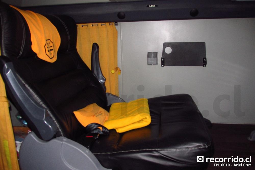 Asientos VIP Class de bus 8x2 TPL