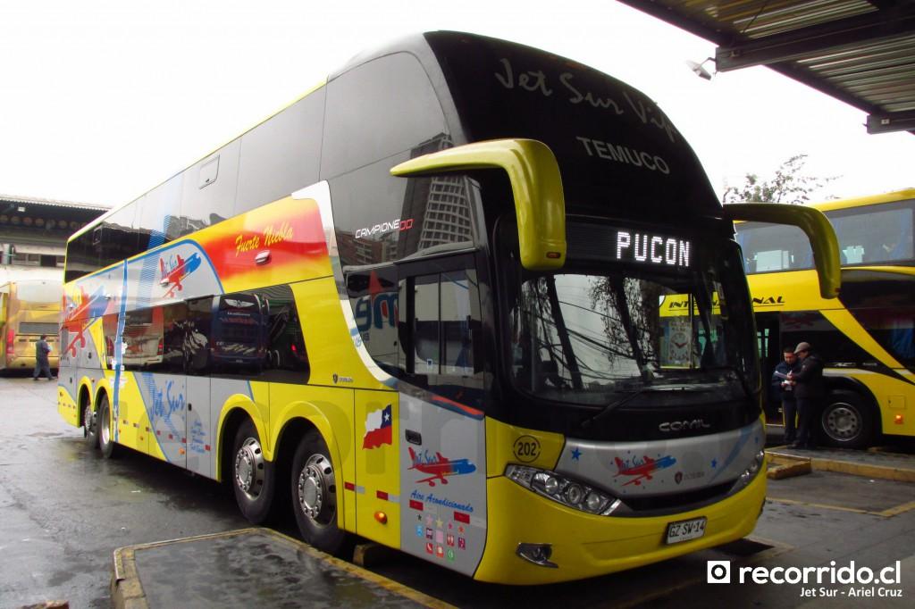 jet sur - campione dd - scania 8x2 - gzsw14 - pucón - santiago - temuco - terminal sur