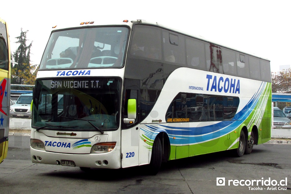 tacoha - modasa zeus - mercedes benz - 220 - rancagua - terminal o'higgins - cxlf26