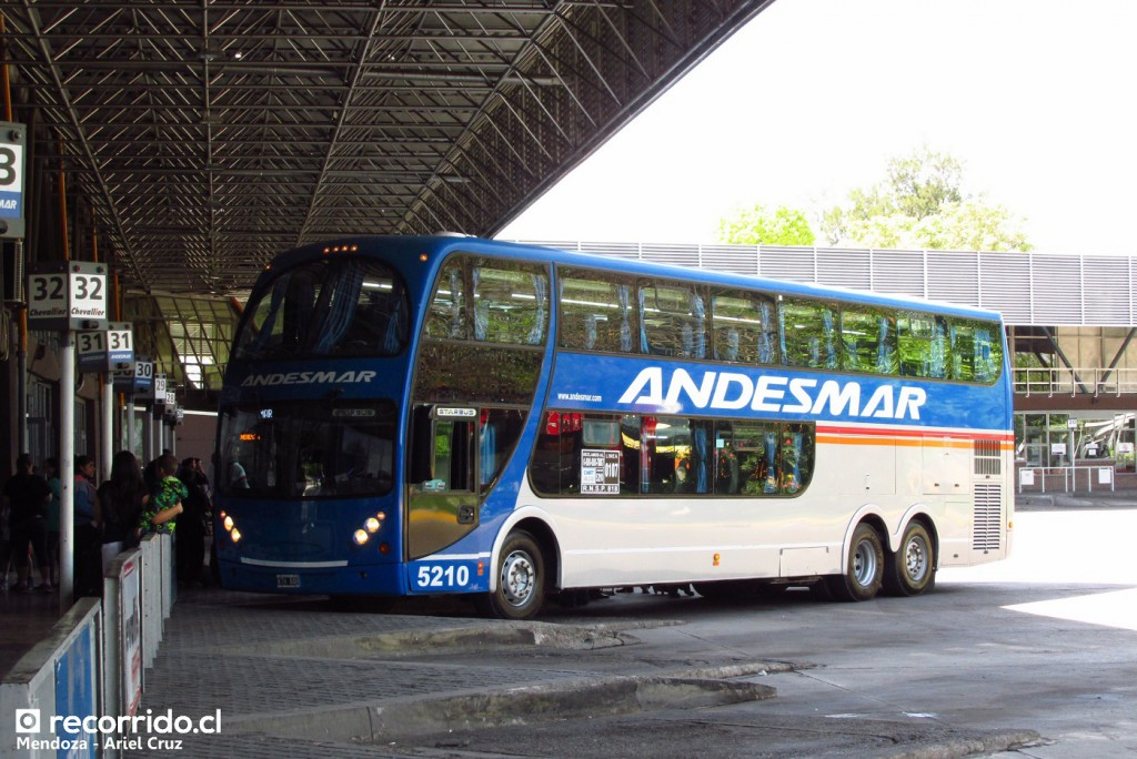 andesmar - 5210 - metalsur starbus 1 - terminal mendoza - kth448 - mercedes benz