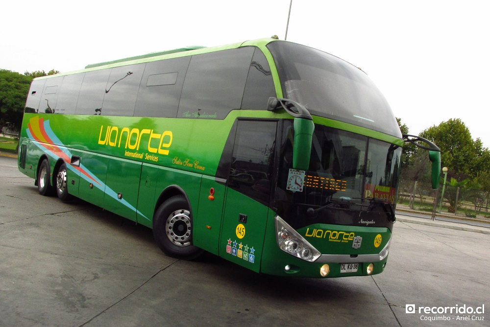 Bus ZhongTong Navigator en Coquimbo