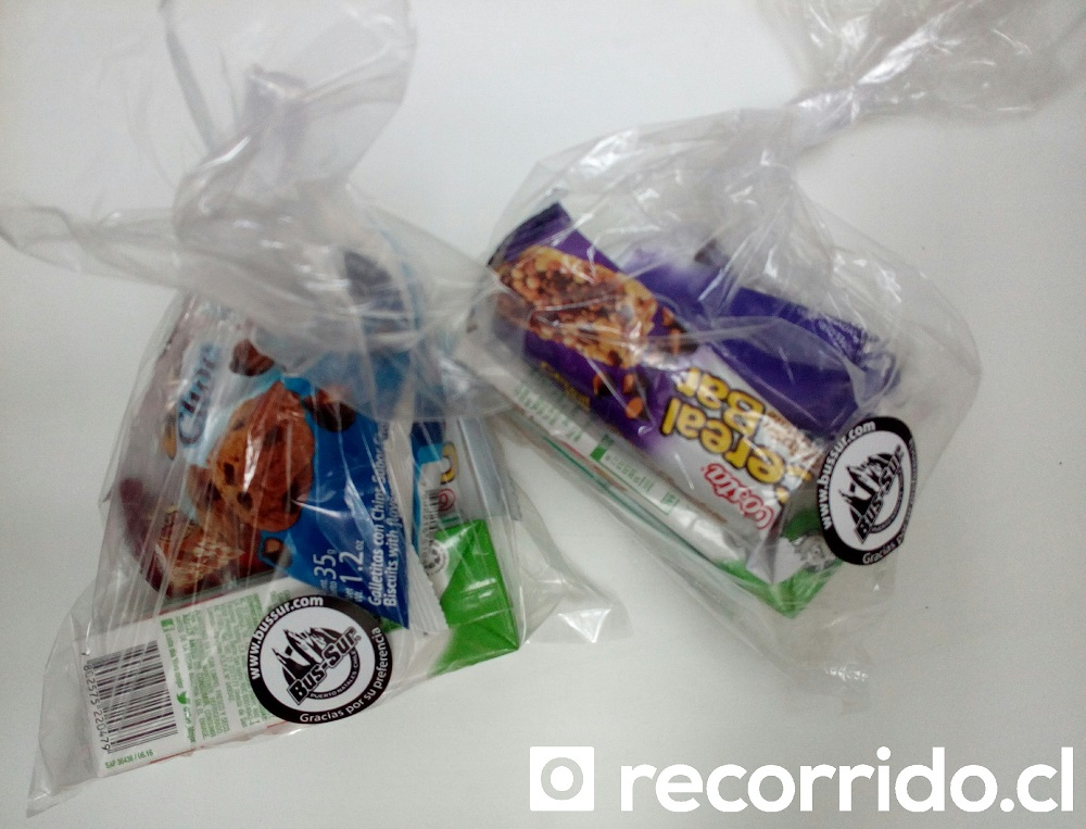 colaciones - bus sur - galletas - jugo - cerealbar